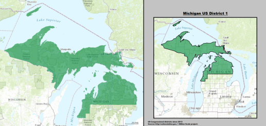 House  Michigan Jack Bergman R Politcal Rockhound - Political map 2018 us house