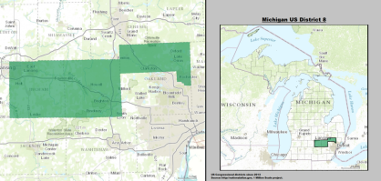 House  Michigan Mike Bishop R Politcal Rockhound - Political map 2018 us house